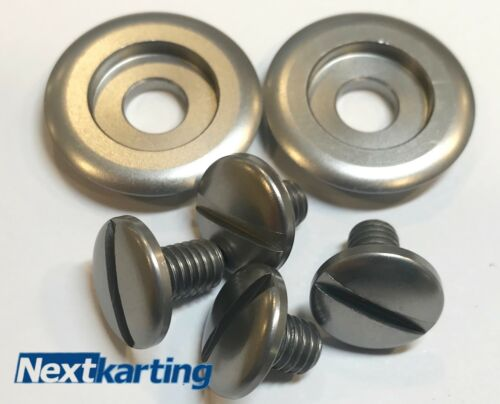 Kart CK6 and SK6 Arai Helmet Silver Anodised Bolts And Washers Pivot Kit