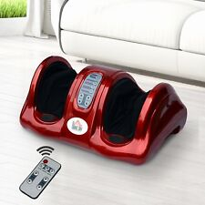 HOMCOM Foot Leg Massager Machine Electric Shiatsu Blood Booster Remote