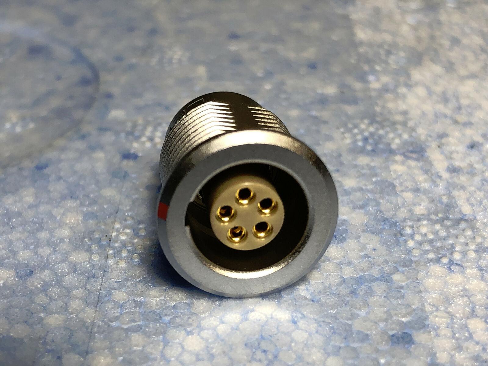 Lot of 5 Lemo 7-Pin to Microdot Coaxial Adapter FGG.1B