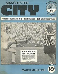 Manchester City v Southampton  Div 1  6101973  Football Programme - London, London, United Kingdom - Manchester City v Southampton  Div 1  6101973  Football Programme - London, London, United Kingdom