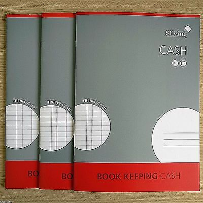 Job Lot 1 2 3 4 5 6 Silvine Journal Book Keeping A4 Double Cash Ruled 32 Page