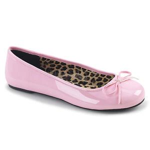 PLEASER Baby Pink Patent Ballet Flats