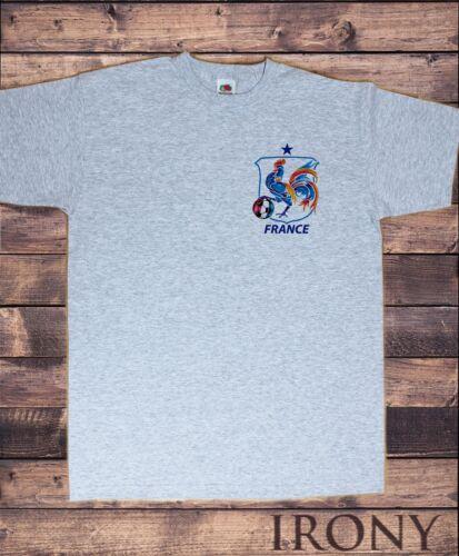 Tee-shirt homme FRANCE Bouclier symbole croûte FOOTBALL COQ Print TS1413