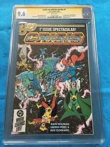 Crisis-on-Infinite-Earths-1-DC-CGC-SS-9-6-NM-Signed-by-Marv-Wolfman