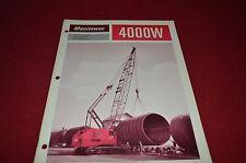 Manitowoc 4000W Crane Dragline Clamshell Dealers Brochure DCPA2 ver2