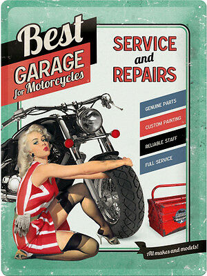 Puch Motorcycle Service Retro Reproduction Garage Sign