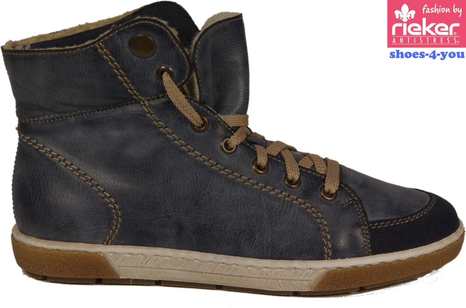 Rieker zapatos botín botaie azul cordero para lotes depósitos oferta nuevo