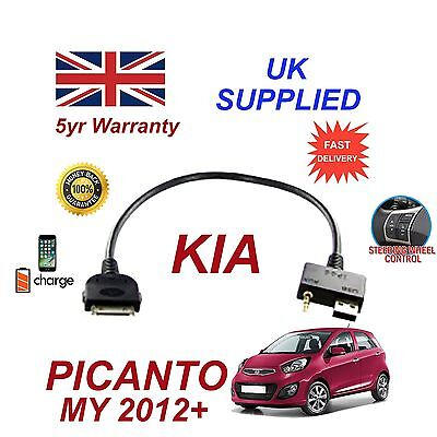 100% Wahr For Kia Picanto Iphone 3gs 4 4s & Most Ipods Usb 3.5mm Aux Audio Cable 2012+ Erfrischung