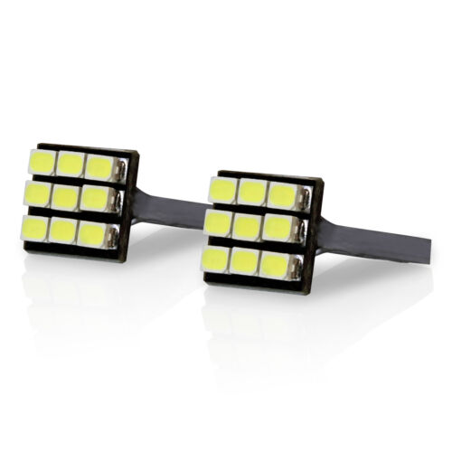 White LED - License Plate Light - 9-SMD Bulbs T10/194/168 - Qty: 2 Set(B)