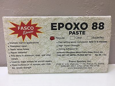 white Fasco Epoxo 88 Kit Regular 6 Minute Setting Epoxy 7 Oz