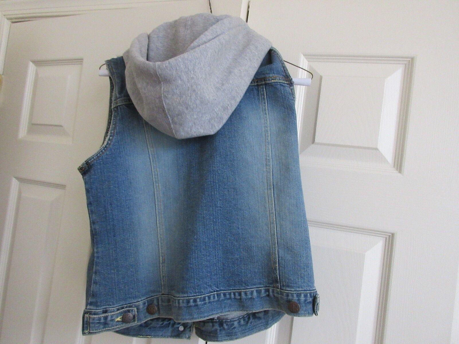 PLUGG , Hooded / Denim Ladies Vest , Size L , Vintage