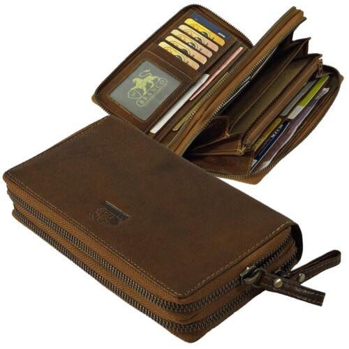 Branco extra große Leder Damen Geldbörse Portemonnaie Geldbeutel cognac 79594