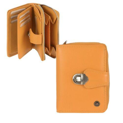Greenburry Damenbörse Leder Portemonnaie 9 KF mit Riegel Neu gelb