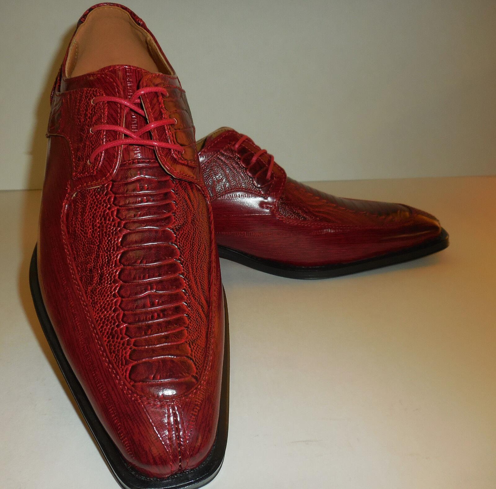 Uomo Elegant Modern Toe Dress Oxfords Scarpe Antonio Cerrelli 6536 Sangria Red