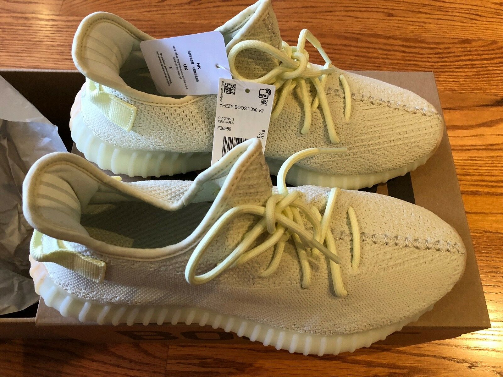 Adidas Yeezy Boost 350 V2 Butter Taille: 10.5 w / Receipt (Adidas Store)