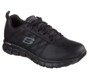 Skechers Work Relaxed Fit Sure Track Erath Shoes Womens Slip Resistant Leather