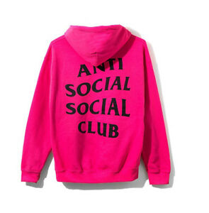 f31f65767e53 Image is loading Anti-Social-Social-Club-Calm-Hoodie-Pink-ASSC-