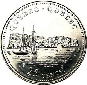 1992-Canada-125th-Quebec-25-Cents-Gem-BU-UNC-Quarter