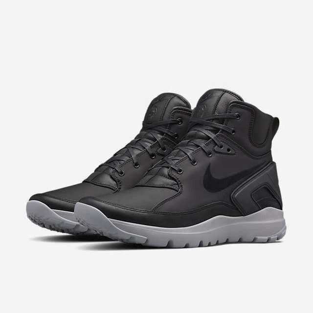 Nike Lab Stone Island Koth ULTRA MID si señores botas de cuero 834912 001 negro