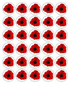 30 x4cm red poppy flower edible waferfondant paper cup cake toppers image is loading 30 x4cm red poppy flower edible wafer fondant mightylinksfo