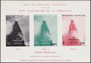 1969 Cinderella France Bloc Projet Vassilef Anniversaire De La Liberation Ngai