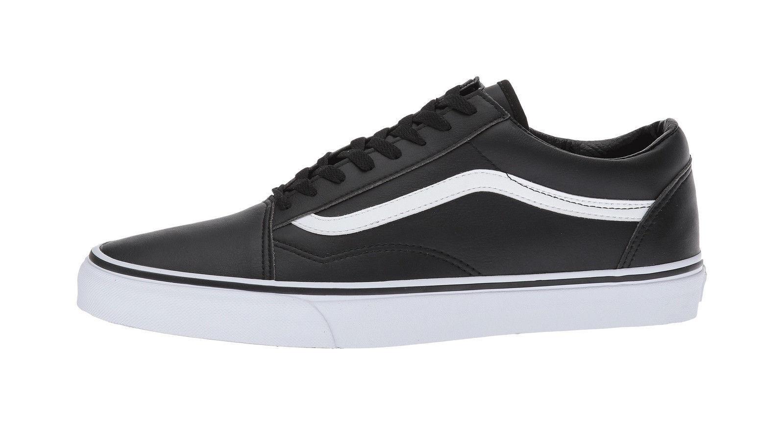 Vans Men Unisex Women shoes Old Skool Classic Tumble Leather (Synthetic) Black