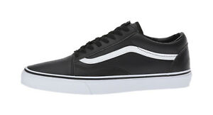 Vans-Men-Unisex-Women-Shoes-Old-Skool-Classic-Tumble-Leather-Synthetic-Black