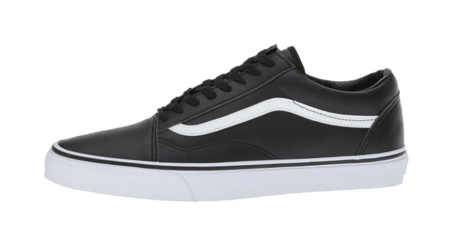 c67f91dd0e Vans Men Unisex Women Shoes Old Skool Classic Tumble Leather (Synthetic)  Black