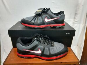 New In Box Men s Nike Lunar Ascend Golf Shoes Grey Black Red Size ... 9a25d15c3