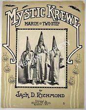 Mystic Krewe By Jack Richmond 1911 Sheet Music Comus Illuminati Clan Mardi Gras