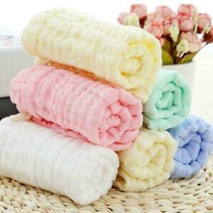 Baby-Baumwolle-Gaze-Handtuch-Waschlappen-Taschentuecher-Fuetterung-D5O9-Speic-V9H7