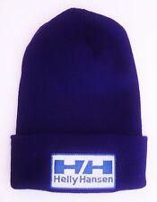 Vintage MADE IN USA Helly Hansen REFLECTIVE Logo Beanie Hat Snow Polo Ski NY Cap