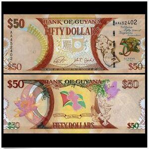 Guyana-50-Dollars-2016-50th-Commemorative-UNC-50-50