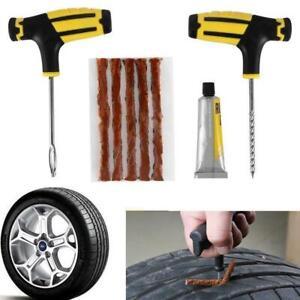 Car-Tubeless-Tire-Reifenpannenset-Reparatursatz-Nadel-Patch-Fix-Tools-Super