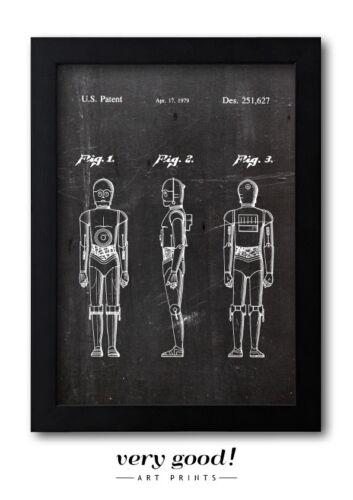 A4 Fine Art-Print in Galeriequalität Star Wars C-3PO Patent Art 01
