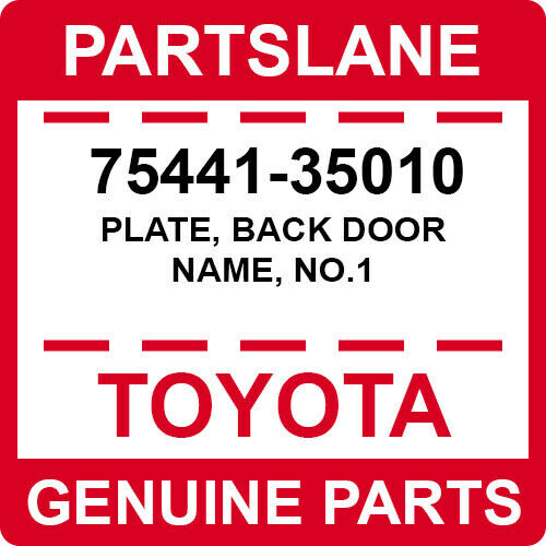 BRAND NEW GENUINE TOYOTA OEM 93-98 SUPRA BACK DOOR NAME PLATE EMBLEM 75441-14190