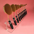 Makeup Brush Holder Shelf For 10 Pcs Toothbrush Foundation Brush Clear Cosmetic
