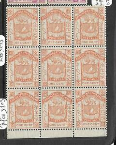 NORTH BORNEO (PP3103B) ARMS , LION 1C SG 24 BL OF 9, 6 MNH