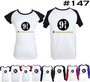 9-3-4-Harry-Potter-Hogwarts-Express-Couple-T-Shirt-Men-039-s-Womens-Graphic-Tee-Tops