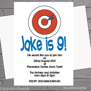 Image Is Loading Target Birthday Party Invitations X 12 With Free