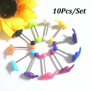 10Pcs-Multi-Tongue-Body-Piercing-Jewelry-Tounge-Nipple-Ear-Ring-Bar-Barbell