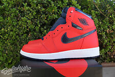 NIKE AIR JORDAN 1 RETRO HI OG GS I SZ 7 Y DAVID LETTERMAN CRIMSON 575441 606