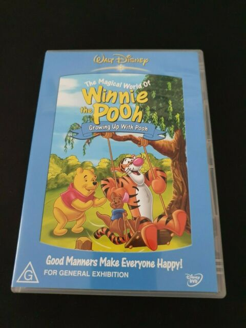 The Magical World Of Winnie The Pooh - Growing Up With Pooh (DVD, 2005) RARE R4