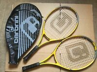 Junior 25 Carbrini Tennis Starter Set C/w 2 X Rackets 2 X Head Covers