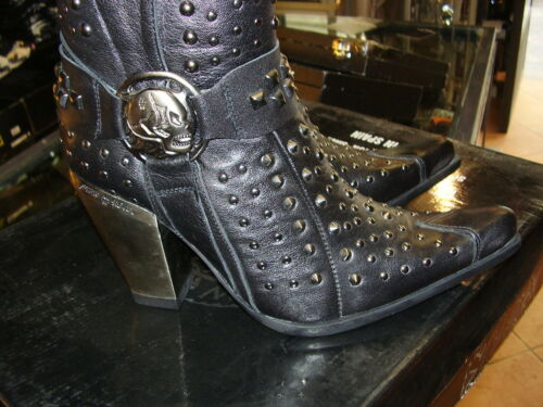 High Borchie Heel Tacco Stivali Rock Real Leather Newrock New Boots Alto Studded tqROB8Rw