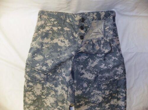 ARMY ACU DIGITAL COMBAT UNIFORM PANTS 50//50 COTTON  RIP-STOP Medium Short #84