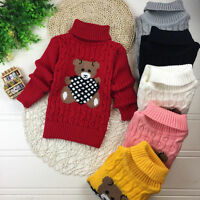 Winter Baby Girl Kids Infant Cute Bear Knite Sweater Pullover Jumpers Cardigan