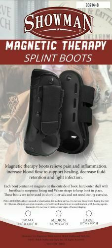 Showman MAGNETIC Therapy Horse SPLINT BOOTS Neoprene Lined Hard Outer Shell