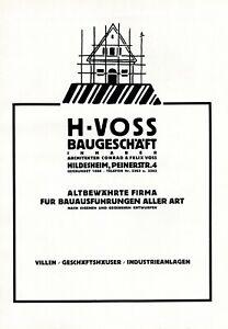 Bâtiment Et Architecte Voss Hildesheim Publicité 1926 Publicité-afficher Le Titre D'origine Swjgtc64-10115809-397568849