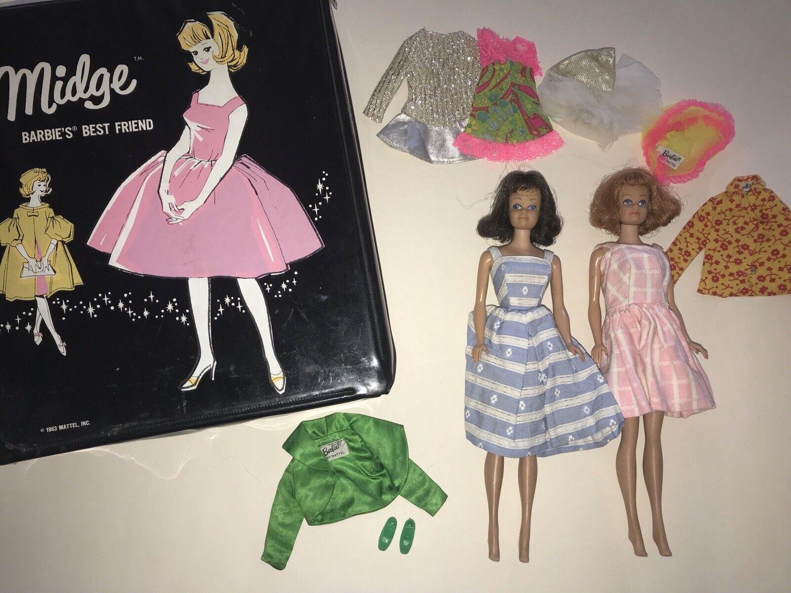 Vintage 1963 Mattel Midge Barbie's Bester Freund Puppen & Bekleidung Schwarzer